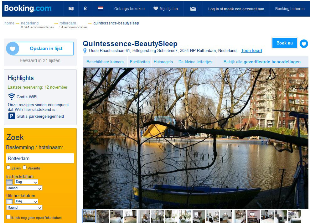 bed and breakfast quintessence rotterdam