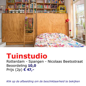 Tuinstudio bed and breakfast Roterdam